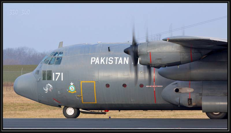 PAF's C-130 aircraft catches fire at Nur Khan airbase