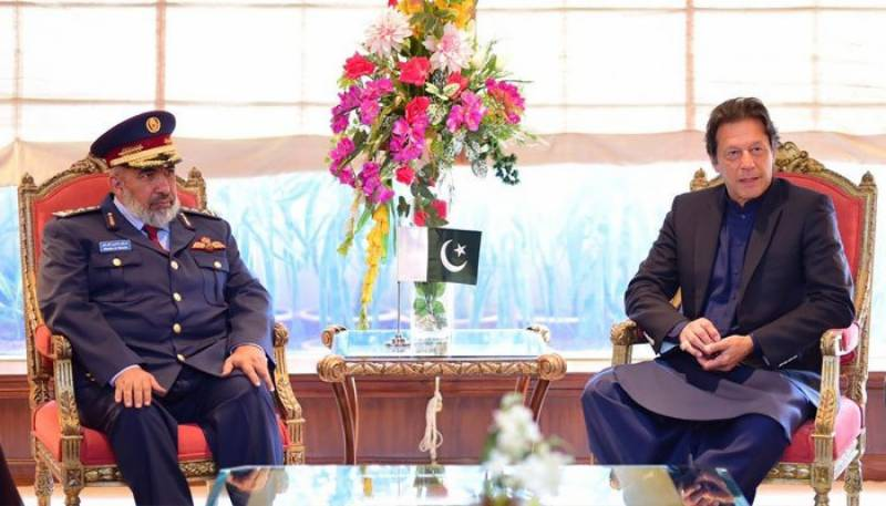 PM Imran, Qatari armed forces chief discuss bilateral ties
