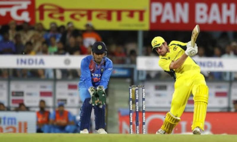 Australia down India in rain-hit T20