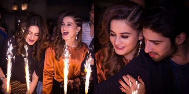 Highlights of Aiman and Minal Khan's birthday bash