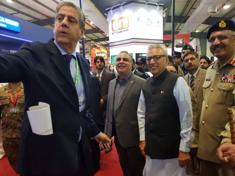 IDEAS 2018: Our weapons are for defence, says President Alvi