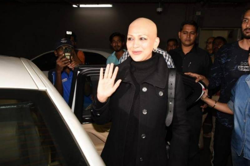 Defiant Sonali Bendre returns home after cancer treatment, See pictures