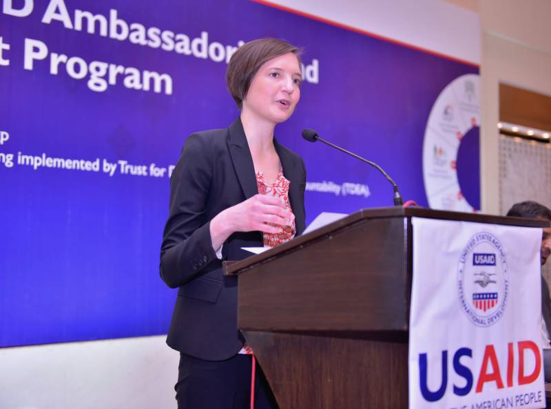US envoy Colleen Crenwelge launches Fund Grant Program in Punjab