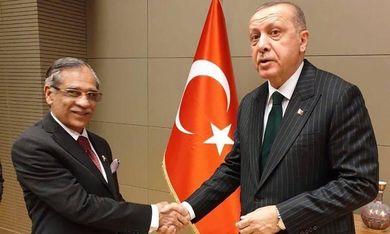 CJP Saqib Nisar lauds Turkish ties with Pakistan in meeting with Erdogan
