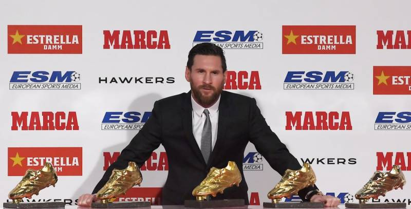 Lionel Messi claims record 5th Golden Shoe
