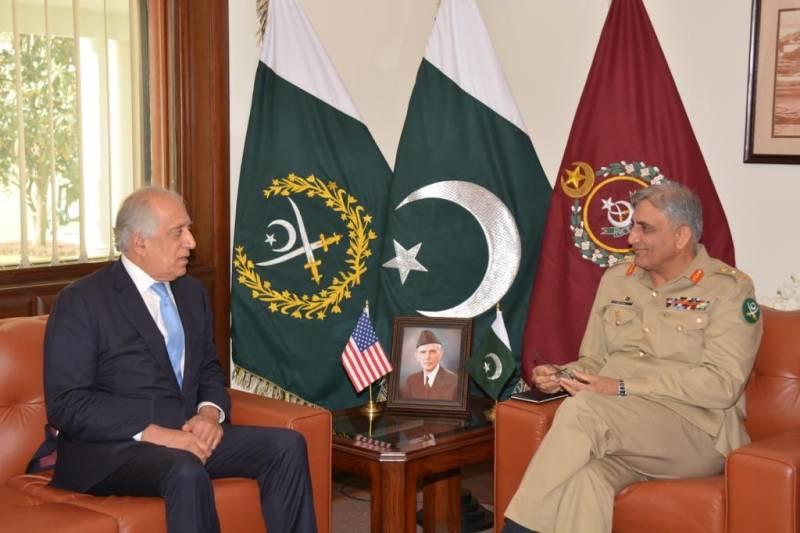 US envoy lauds Pakistan's efforts for Afghanistan peace process: ISPR DG