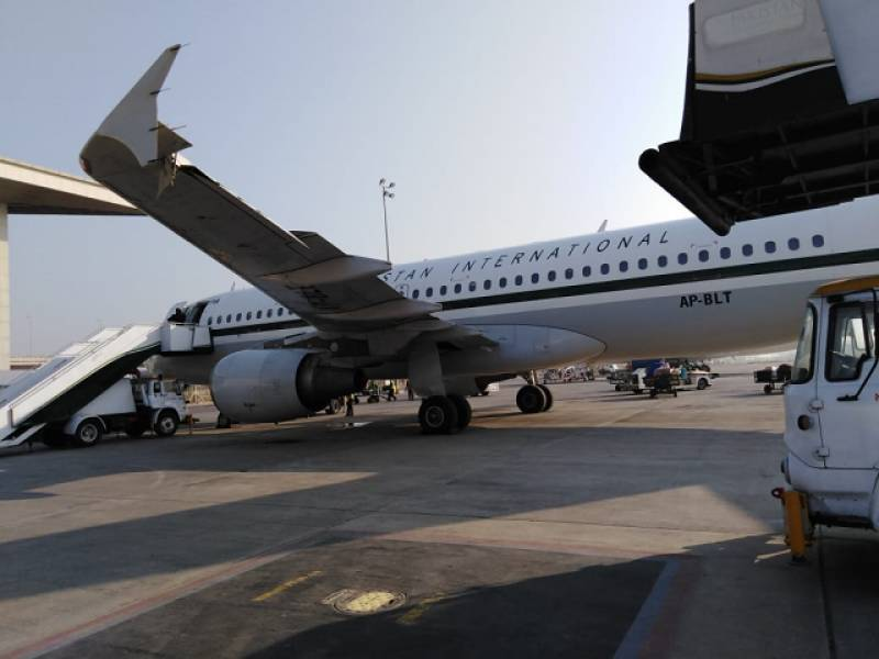 PIA plane collides with airstair at Islamabad airport