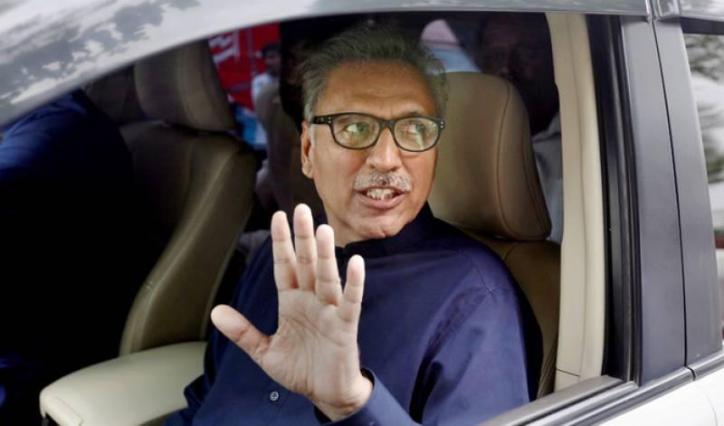 President Arif Alvi tenders apology for security lines outside Karachi mosque