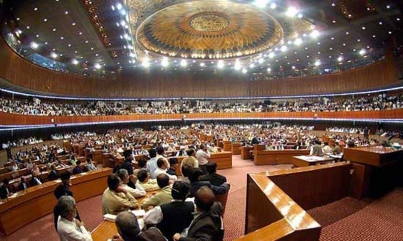 No proceedings for an hour as Opposition protest over counting on bill in NA