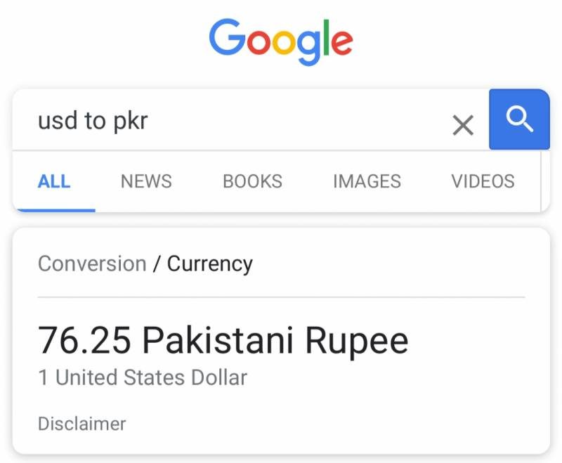 Dollar falls to 76 vs Pakistani Rupee? Here's the real reason behind the glitch on Google and Bing