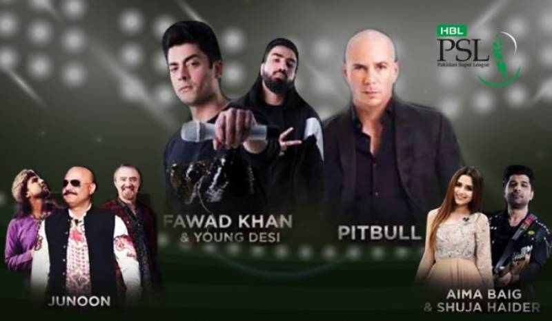 Pitbull, Fawad Khan, and Junoon to share stage on PSL 4 opening ceremony