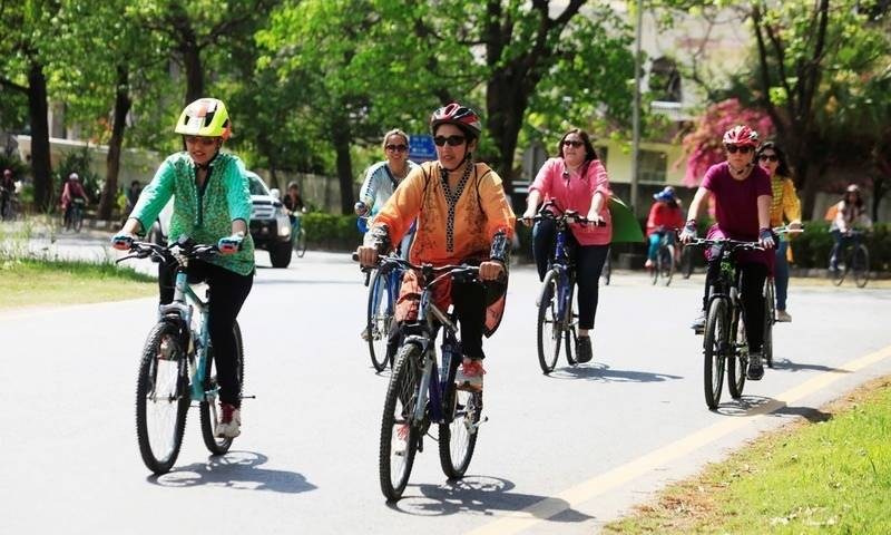 People react to the cancellation of first-ever women bike rally in Peshawar
