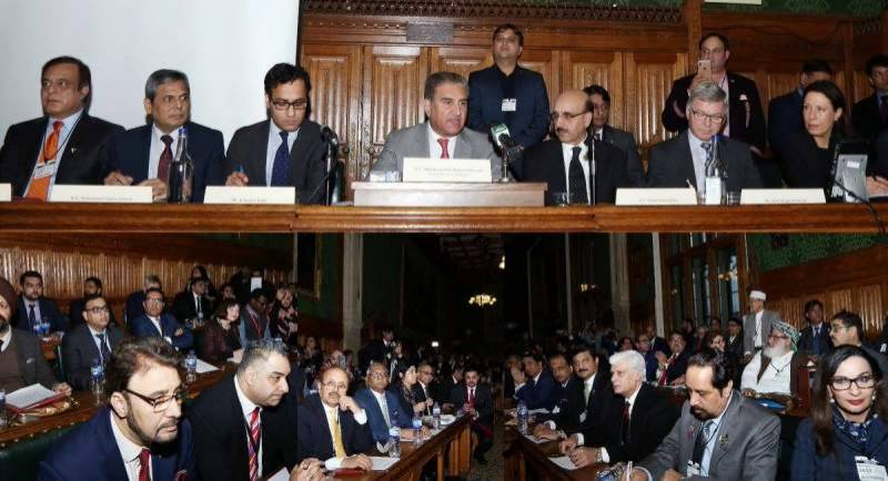 Int'l Conference in UK urges for immediate resolution of Kashmir dispute as per UNSC resolutions