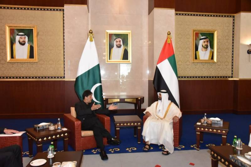WGS 2019: PM Imran, Abu Dhabi Crown Prince exchange views on bilateral interest in Dubai