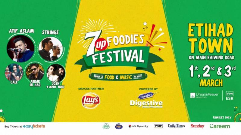 7UP brings '7Up Foodies Festival' in Lahore and rumor has it that this will be the biggest festival city has ever seen