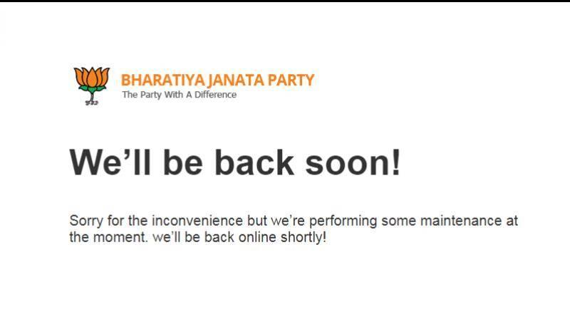 Website of India's ruling BJP under hackers' attack