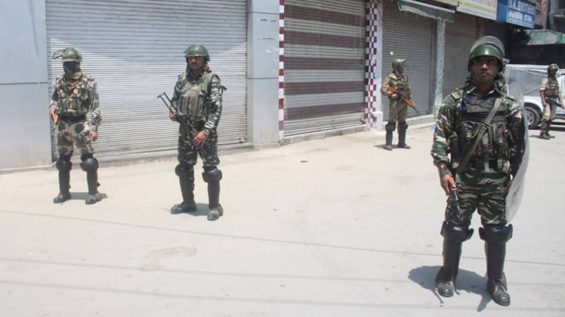 Complete shutdown being observed today in Occupied Kashmir against Indian repressive measures