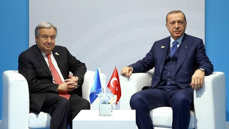 Turkey's President Erdogan, UN chief discuss Indo-Pak tension