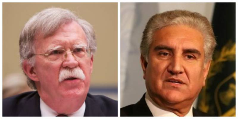 Pakistan's FM Qureshi, US national security advisor discuss peace in South Asia