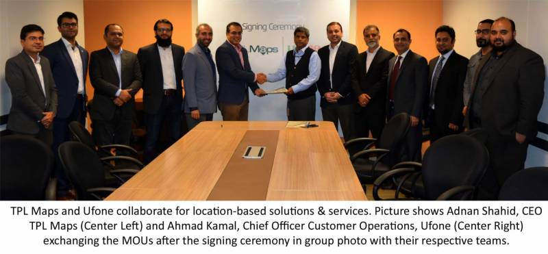 Ufone to use TPL maps for intelligent location-based solutions