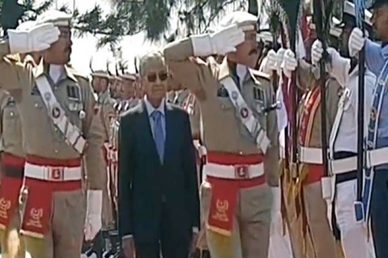 Malaysia's PM Mahathir receives guard of honour at PM House