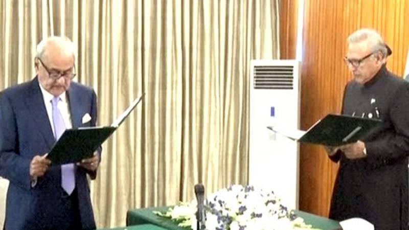 Brigadier (retd) Ijaz Shah takes oath as Federal Minister for Parliamentary Affairs