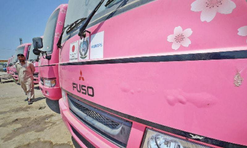 First women-only pink bus service to start in Mardan