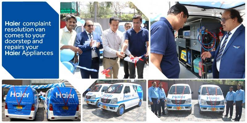 Haier complaint resolution van comes to your doorstep and repairs your Haier appliances
