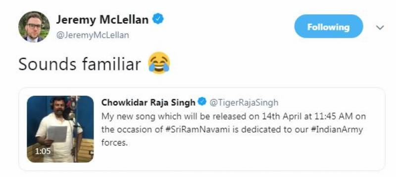 Twitter reacts to BJP's leader stealing ISPR's anthem 'Pakistan Zindabad'