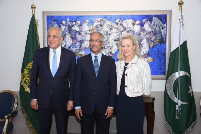 Zalmay Khalilzad, Alice Wells in Pakistan to discuss Afghan peace process