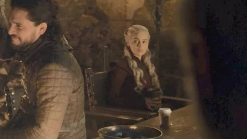 Game of Thrones fans are upset after spotting a modern day coffee cup in a scene