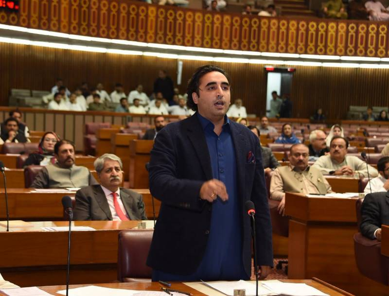 Ruckus in NA as Murad Saeed fires back at Bilawal Bhutto for grilling PTI