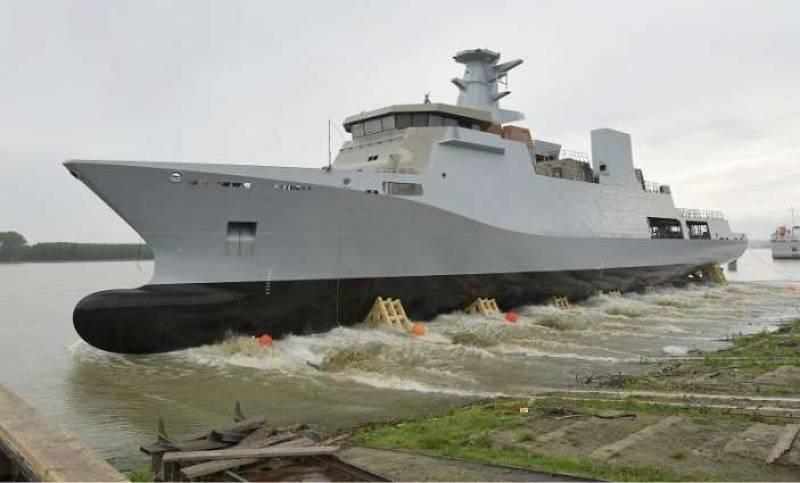 Romania unveils first corvette vessel built for Pakistan Navy