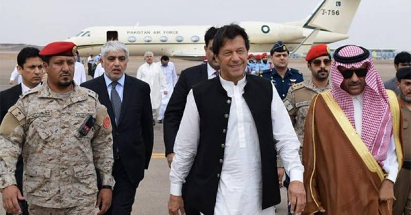 PM Imran reaches Madinah on 3-day visit to Saudi Arabia