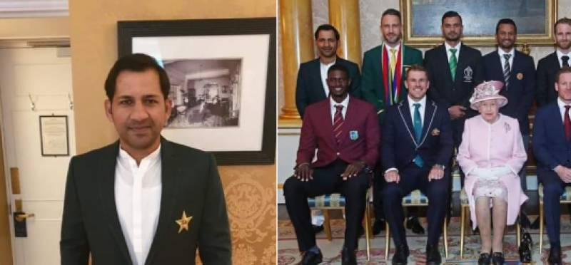 Twitter lavishes praise on Sarfaraz Ahmed for donning traditional Shalwar Kameez while meeting Queen Elizabeth