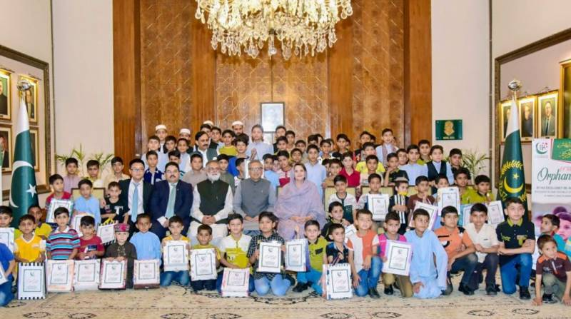 CEO Tecno Mobile, Chairman Khubaib Foundation attend President Alvi's Iftar for orphans