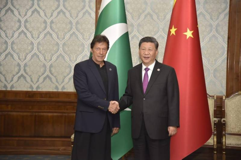 SCO summit: PM Imran, President Xi exchange views on bilateral relations in Bishkek