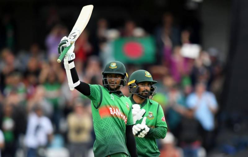 Shakib's ton anchors Bangladesh's World Cup run chase against West Indies