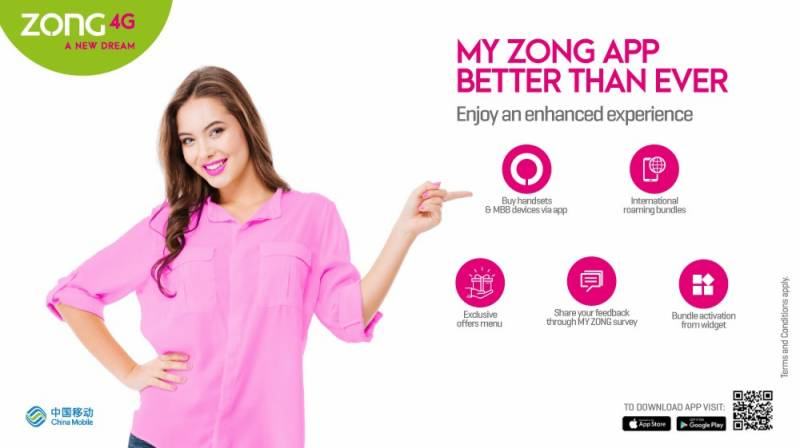 Zong 4G upgraded its 'My Zong App' to facilitates customers