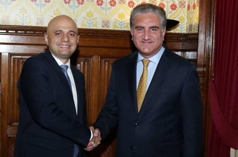 FM Qureshi meets British Home Secretary, reaffirms collaboration between law enforcement agencies