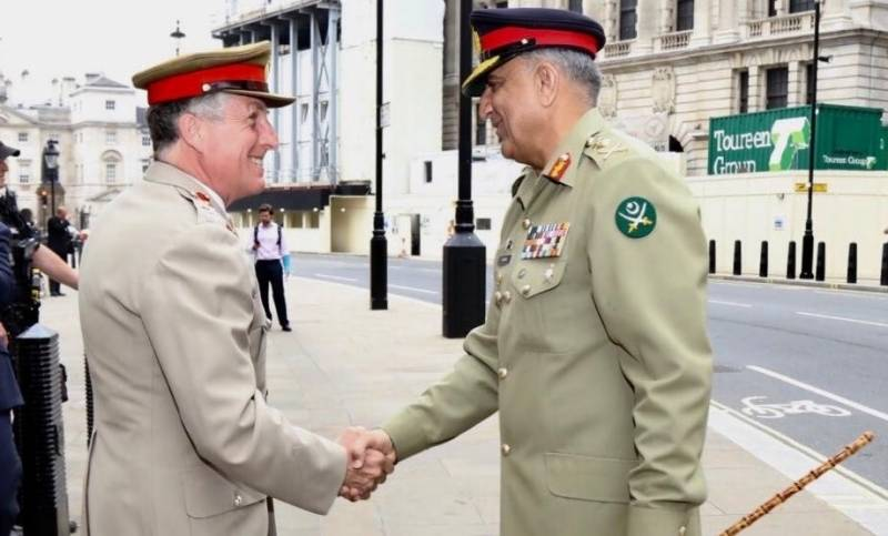 COAS Gen Bajwa discusses bilateral military cooperation with top British commander