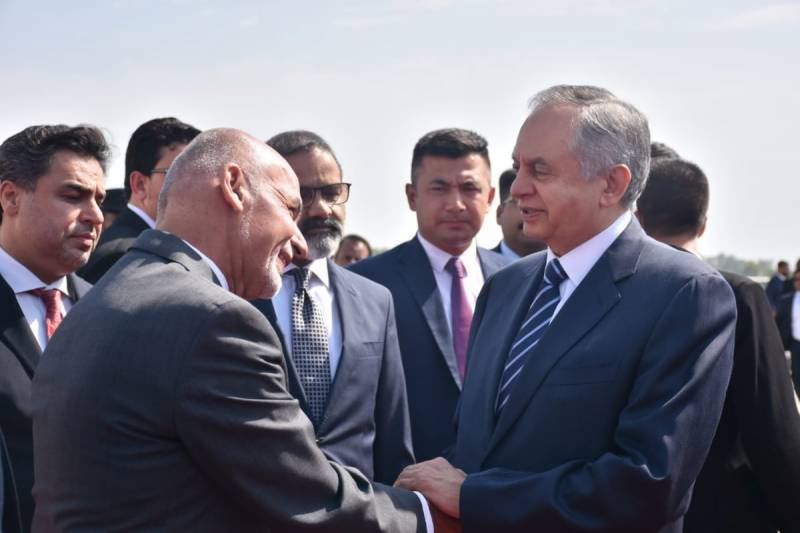 Afghan President Ashraf Ghani arrives in Islamabad to hold talks with Pakistani leadership