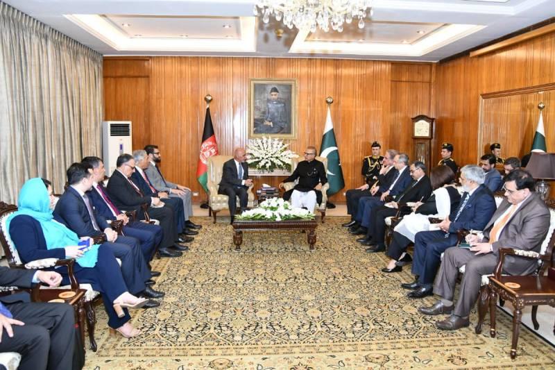 Afghan President Ashraf Ghani warmly received at Aiwan-e-Sadr