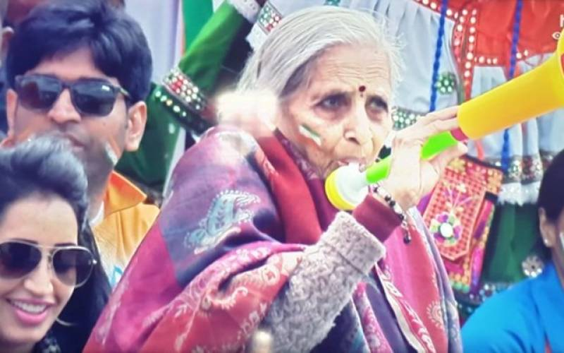 INDvBAN: Elderly woman supporting India wins the Internet