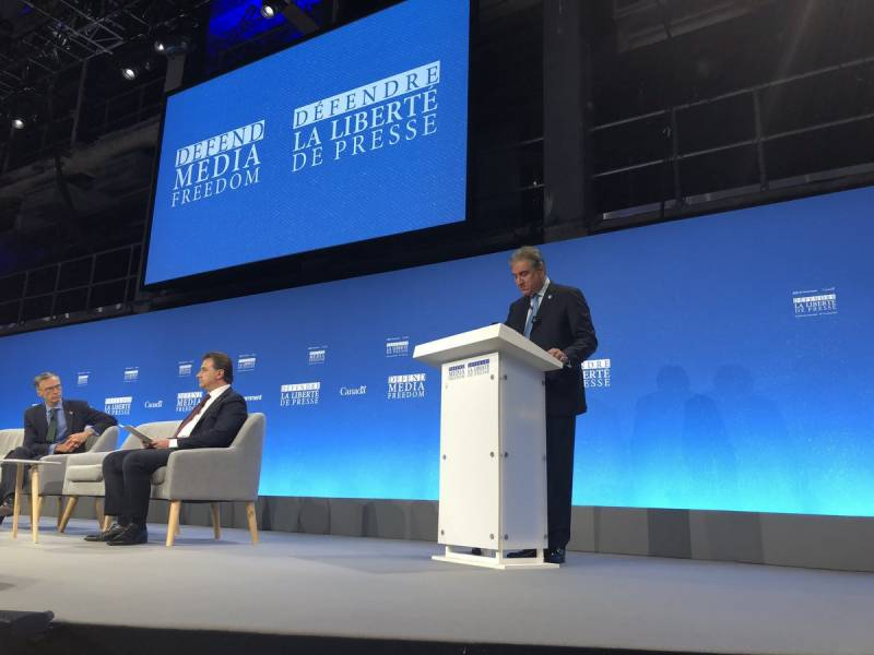 'Anti-Muslim propagandist' heckles FM Qureshi during London conference