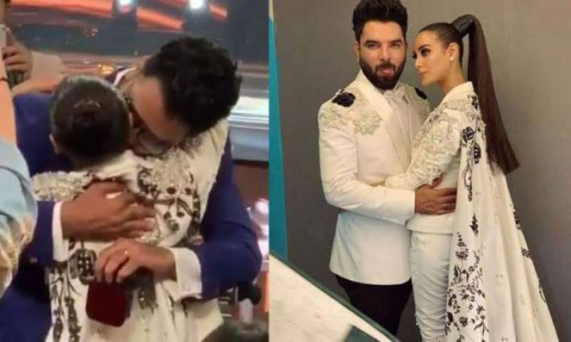 Iqra Aziz reacts to criticism for public proposal at LSA2019