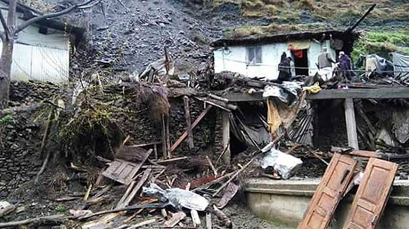 Six of a family killed in mud sliding in Swat