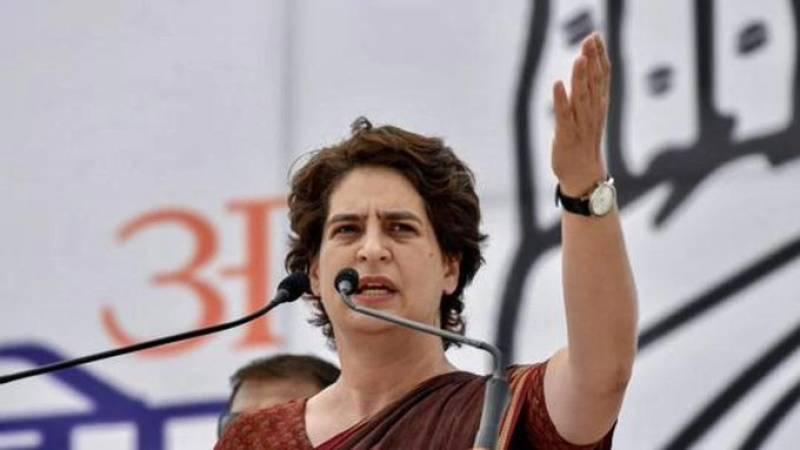 """Congress condemns """"illegal"""" arrest of Priyanka Gandhi in northern India"""