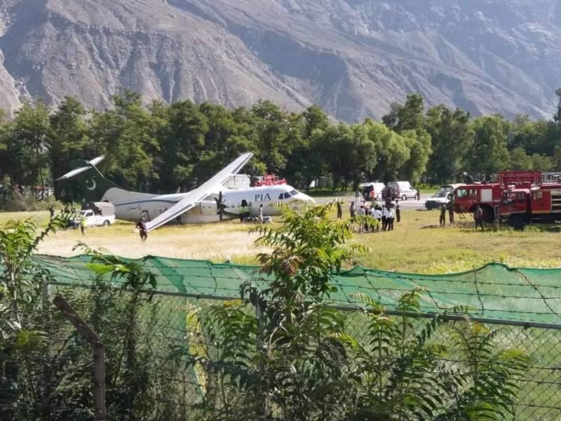 PICS: PIA plane skids off at Gilgit airport