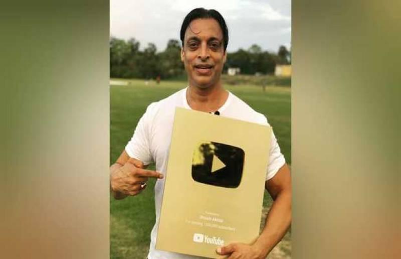 YouTube awards Shoaib Akhtar Golden Play Button